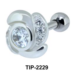 Fabulous Flower Shape Helix Ear Piercing TIP-2229
