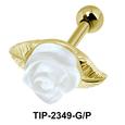 White Rose Bloom Upper Ear Unique Design TIP-2349