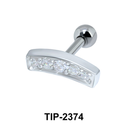Multiple Stones Helix Piercing TIP-2374