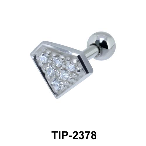 Diamond Shaped Helix Ear Piercing TIP-2378