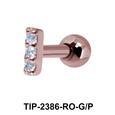 Multiple Stones Helix Ear Piercing TIP-2386