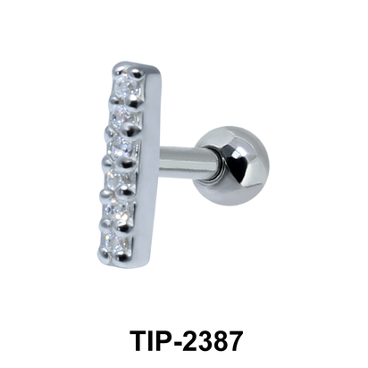 Multiple Stones Helix Ear Piercing TIP-2387