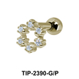 Flower with Middle Hole Helix Ear Piercing TIP-2390