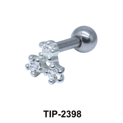 Multiple Stones Helix Ear Piercing TIP-2398
