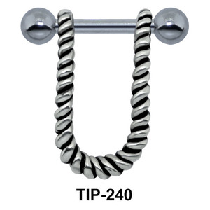 Rope Design Helix Piercing TIP-240