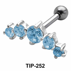 Multiple Stones Helix Ear Piercing TIP-252