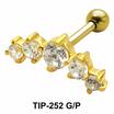 Multiple Stones Helix Ear Piercing TIP-252