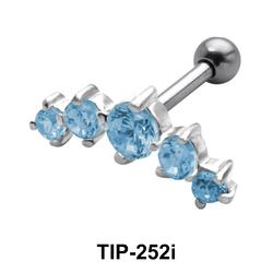 Cute Helix Ear Piercing Both Side Screw TIP-252i