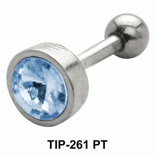 Bezel Set Round Stone Helix TIP-261-PT