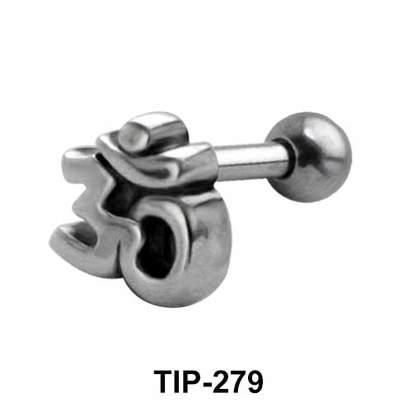 Om Shaped Upper Ear Piercing TIP-279