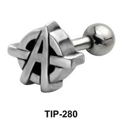 Superhero Sign Shaped Helix Piercing TIP-280