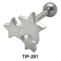 Tri Star Helix Ear Piercing TIP-281
