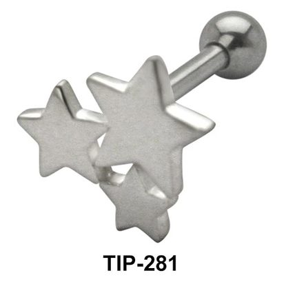 Tri Star Helix Ear Piercing TIP-281
