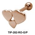 Tri Heart Helix Ear Piercing TIP-282