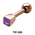 Bezel Stone Set Helix Piercing TIP-286