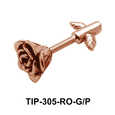 Rose Shaped Helix Piercing TIP-305