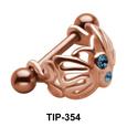 Butterfly Dangler Upper Ear Cartilage Mini Shields TIP-354