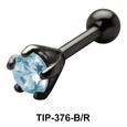 Prong Set Round Stone Helix TIP-376