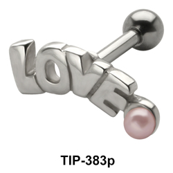 LOVE Pearl Helix Ear Piercing TIP-383p