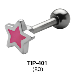 Enameled Star Shaped Helix Piercing TIP-401