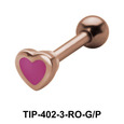 Enameled Heart Shaped Helix Piercing TIP-402-3