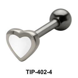 Enameled Heart Shaped Helix Piercing TIP-402-4