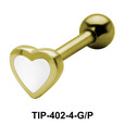 Enameled Heart Shaped Helix Piercing TIP-402-4