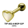 Heart Shaped Helix Piercing TIP-402-4-MOP
