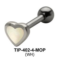 Heart Shaped Helix Piercing TIP-402-4-MOP