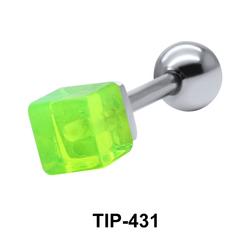 Square Cut Amethyst Helix Piercing TIP-431