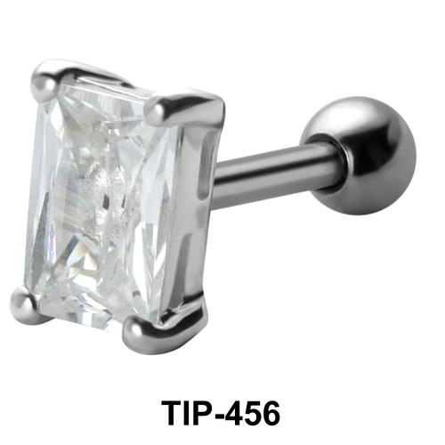 Square Stone Set Helix TIP-456