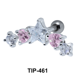 Multiple Stones Set Helix TIP-461