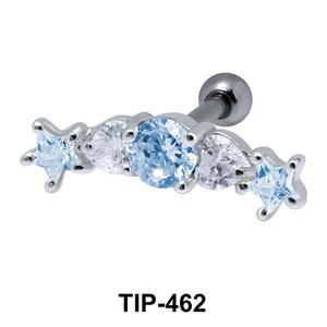 Multiple Stones Set Helix TIP-462