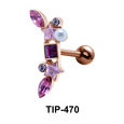 Multiple Stones Helix Ear Piercing TIP-470