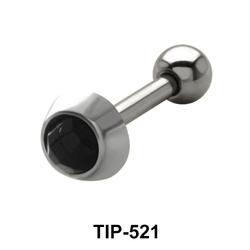 Black Stone Helix Ear Piercing TIP-521