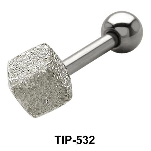 Shimmering Cube Helix Ear Piercing TIP-532-3.5mm.