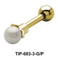 Pearl Set Helix Piercing TIP-603-3