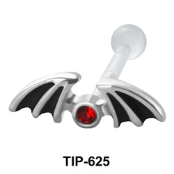 Stone Set Bat Shaped PTFE Internal Barbells TIP-625