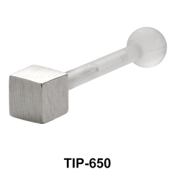 Solid Cube Upper Ear Piercing TIP-650