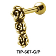 Tri Rose Shaped Helix Piercing TIP-667