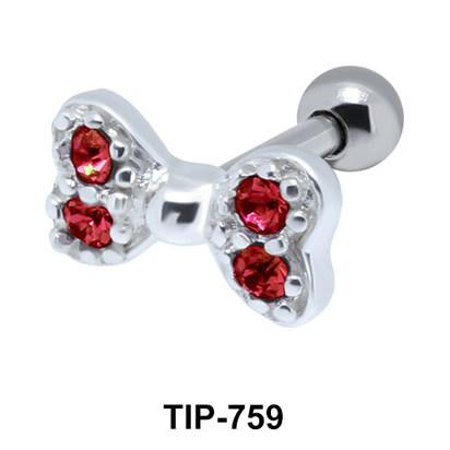 Bow Helix Ear Piercing TIP-759