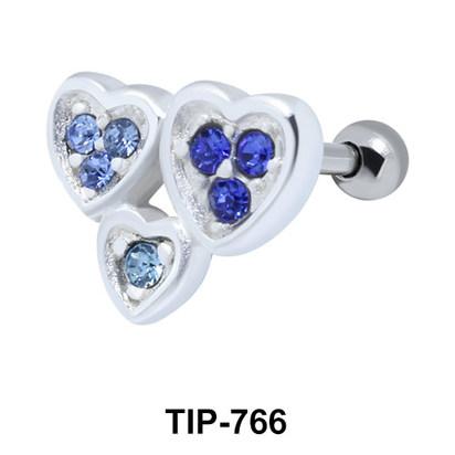 Hearts Helix Ear Piercing TIP-766
