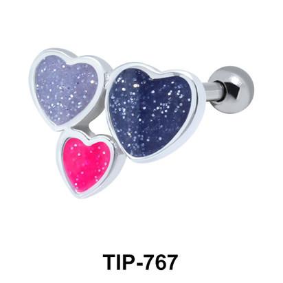 Enamel Hearts Helix Ear Piercing TIP-767