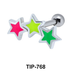 Enameled stars Upper Ear Piercing TIP-768