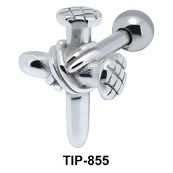 Cross Helix Ear Piercing TIP-855