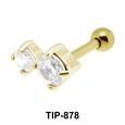 Dual Stone Upper Ear Piercing TIP-878