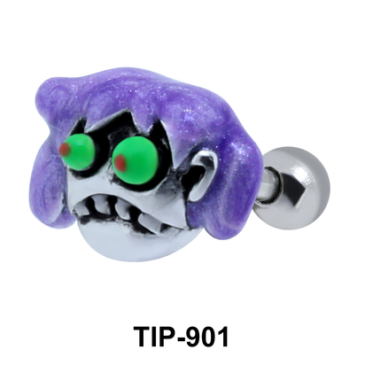 Colorful Zombie Shaped Helix Piercing TIP-901