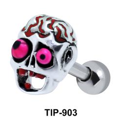 Enamel Zombie Shaped Helix Piercing TIP-903
