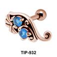 Dual Stone Brilliant Design Helix Ear Piercing TIP-932