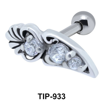 Block Print Motif Shaped Helix Ear Piercing TIP-933